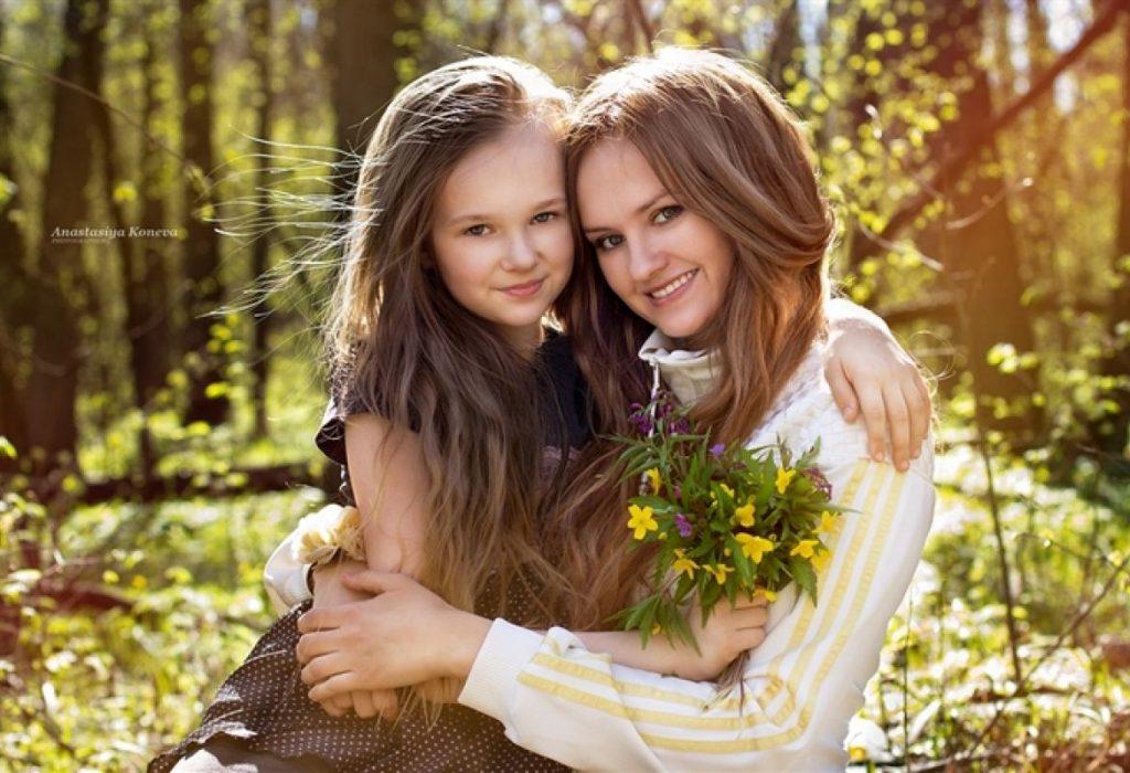 Красивая мама — правильный пример для подражания