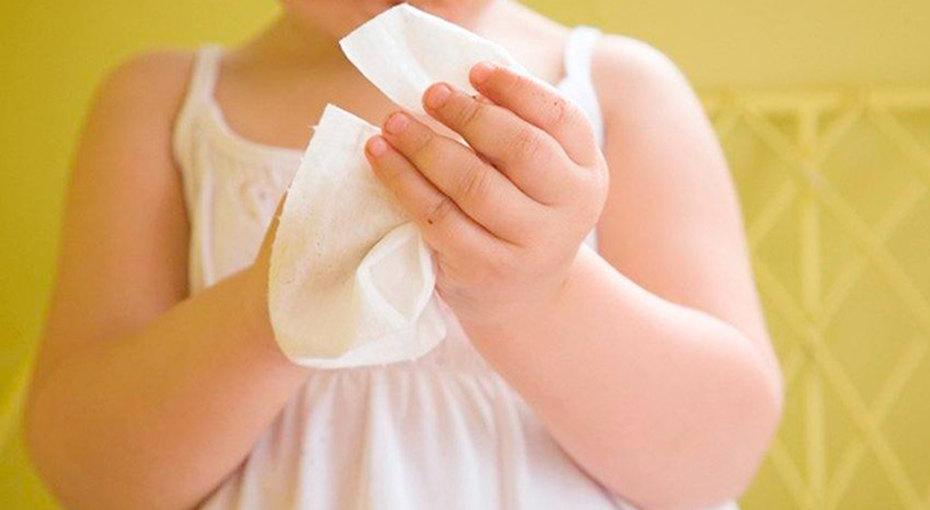 Детские салфетки могут вызвать пищевую аллергию — исследование